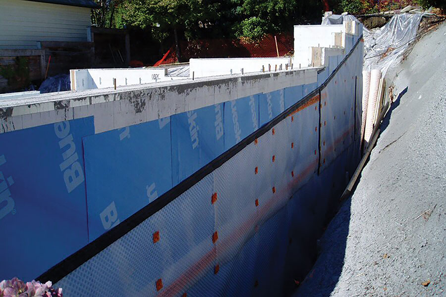 Waterproofing for ICF Structures
