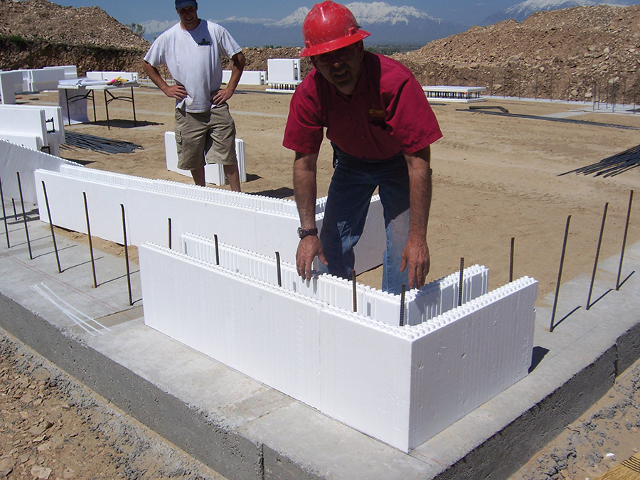 Icf 101 icf builder magazine for Foam block wall construction