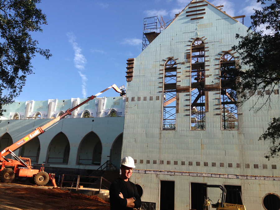 Saint peter s anglican church icf builder magazine for Nudura cost per square foot