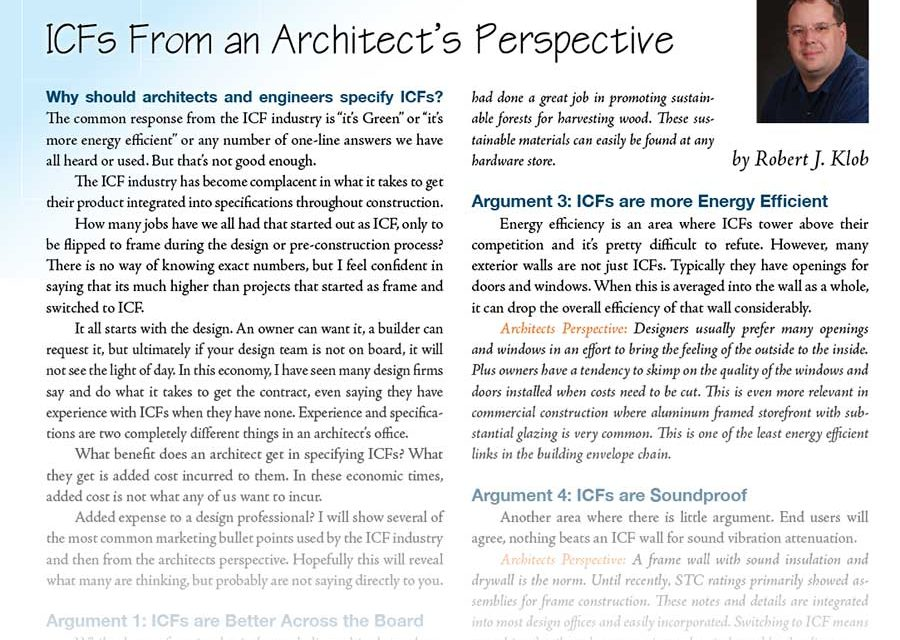 ICFs From an Architects Perspective