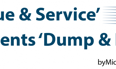 'Value & Service' Prevents 'Dump & Run'