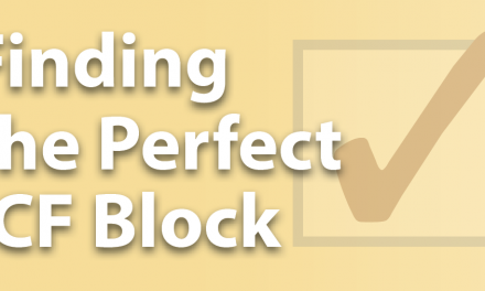Finding the Perfect ICF Block